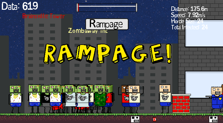 Gameplay image from Zombie Cannon Attack!