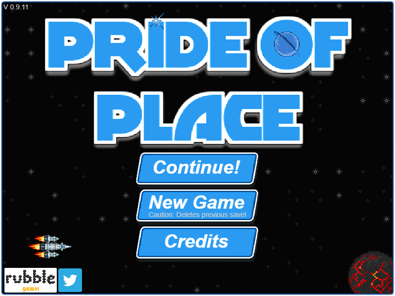 Title screen of Pride of Place