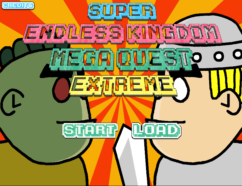 Title screen of Super Endless Kingdom